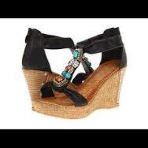 Shoes - Beaded Wedges